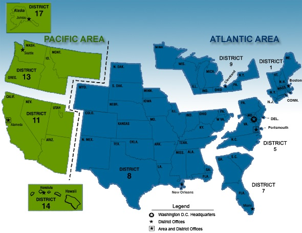 Mapjpg - Us coast guard maps
